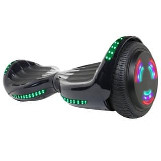 "Flash Wheel UL 2272 Certified Hoverboard 6.5"" Bluetooth Speaker with LED Light Self Balancing Electric Scooter Black