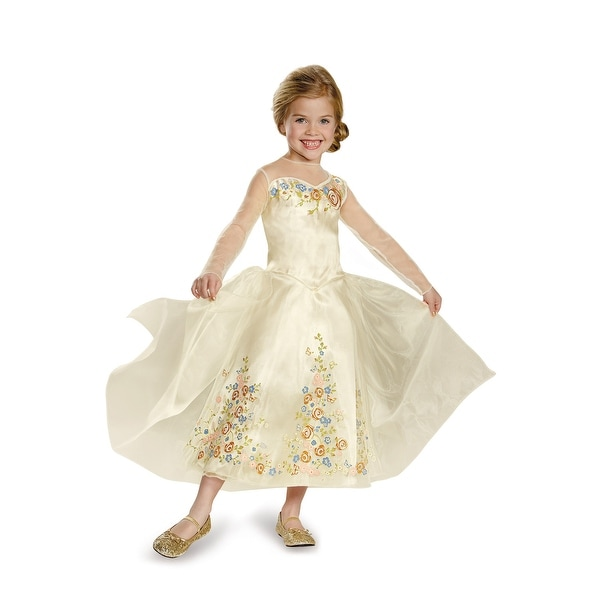 Disguise Cinderella Movie Wedding Dress Deluxe Child Costume - Gold