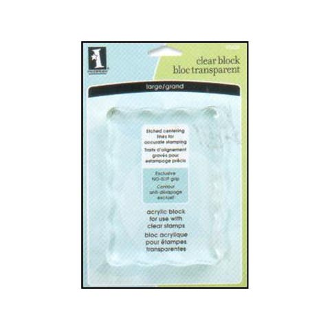 93626 inkadinkado clear stamp block large