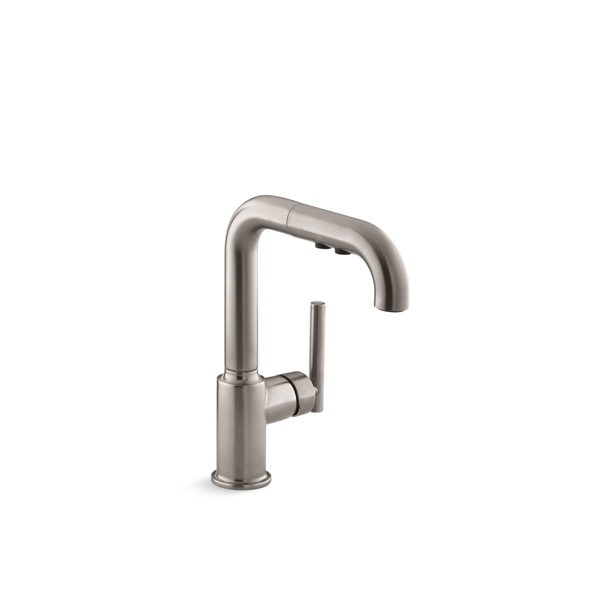Kohler Purist Single Hole Kitchen Sink Faucet With 7 Pull Out Spout K 7506 Vs Overstock 31312629