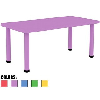 "2xhome - Purple - Kids Table - Height Adjustable 21.5"" - 22.5"" Table"