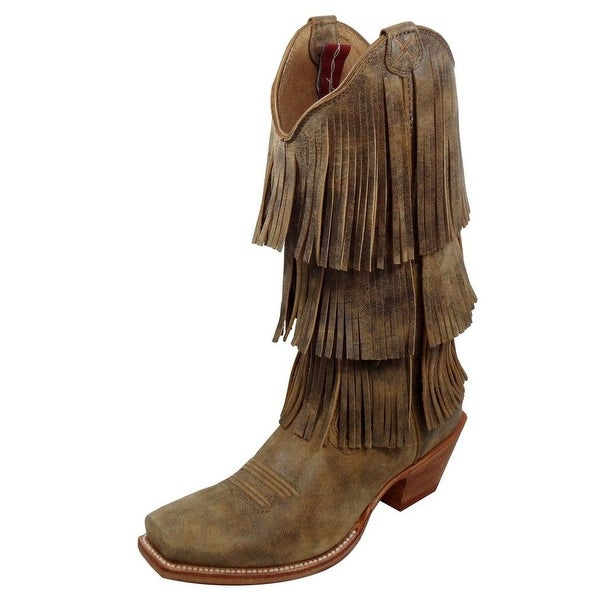 Twisted X Western Boots Womens Fringe Square 13 Inch Bomber