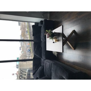 Aberdeen Industrial Zinc Top Weathered Oak Trestle Coffee Table by iNSPIRE Q Artisan