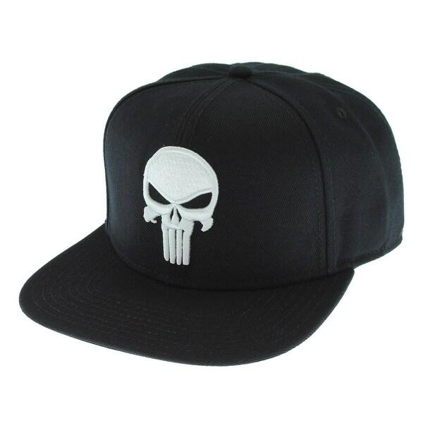 de3822caf09 Shop Marvel Comics The Punisher Skull Logo Licensed Adjustable Snapback Cap  Hat - Free Shipping On Orders Over  45 - Overstock - 18432782