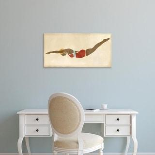Easy Art Prints June Erica Vess's 'Vintage Diver II' Premium Canvas Art