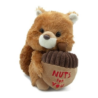 "Aurora - Nuts For You Squirrel 8.5"" High Quality Plush"