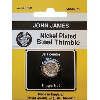 Nickel Plated Steel Crimp Top Thimble-Medium Size 7