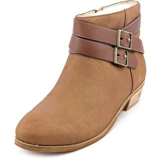 Softwalk Rancho Women N/S Round Toe Leather Tan Ankle Boot
