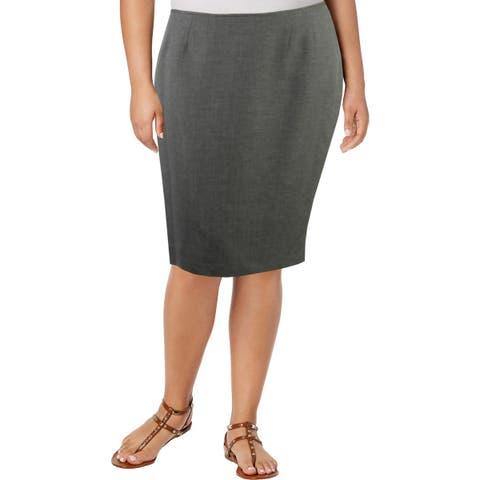 Le Suit Womens Pencil Skirt Melange Office - 14
