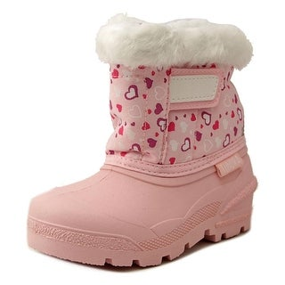 Tundra Smile Women Round Toe Synthetic Pink Winter Boot