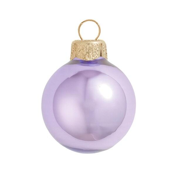 "4ct Pearl Lavender Purple Glass Ball Christmas Ornaments 4.75"" (120mm)"