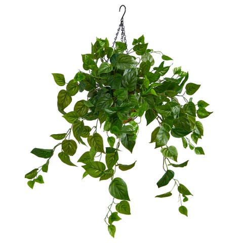 2.5' Philodendron Artificial Plant in Hanging Basket