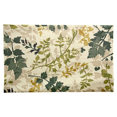 """Bacova 14113P9 Polyester Printed Mat with Rubber Back, Alhambra, 18"""" x 30"""""""