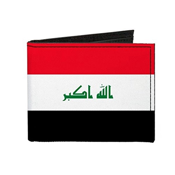 Buckle-Down Canvas Bi-fold Wallet - Iraq Flag Accessory