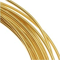Beadsmith Brass German Bead Wire Craft Wire 18 Gauge/1mm (3 Meters / 9.8 Feet)