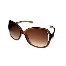 Kenneth Cole Reaction Womens Plastic Sunglass Brown / Gradient Lens KC1220 50F - Medium