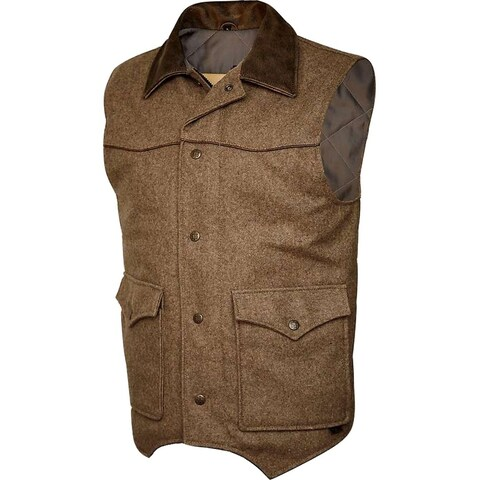 StS Ranchwear Western Vest Mens Wool Lariat Button Up Bomber