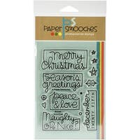 "Paper Smooches Clear Stamps 4""X6""-Boxed Greetings"