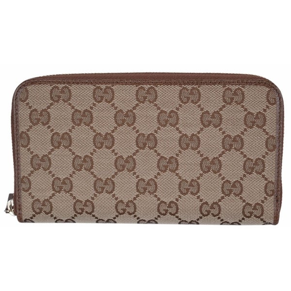 8a181b75af31 Gucci 363423 Women's GG Guccissima Canvas Zip Around Wallet Clutch -  7.75