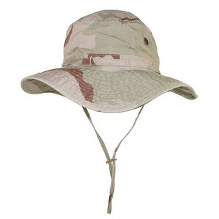 DPC Outdoor Design Men's Cotton Camouflage Boonie Hat with Chin Cord