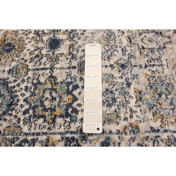 Ecarpetgallery Machine Woven Bolivia Yalameh Blue Ivory Rug 2 2 X 8 0 Overstock 32394654