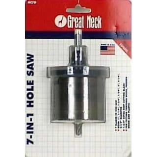 "Great Neck HC7D 7-In-1 Hole Saw W/Automatic Slug-Ejector 1-3/4"""