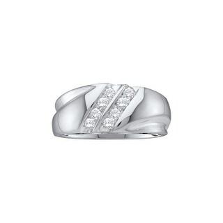 1/4Ctw Diamond Men'S Fashion Band White-Gold 10K