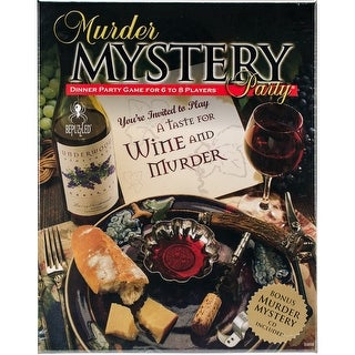 Murder Mystery Party Game-A Taste For Wine & Murder - a taste for wine & murder