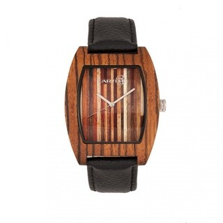 Earth Wood Cedar Unisex Quartz Watch, Genuine Leather Band