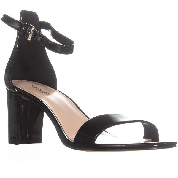 Nine West Pruce Ankle Strap Sandals, Black Synthetic - 10.5 us