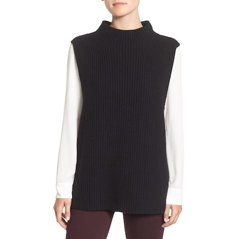 Trouve Black Women's Size XS Sleeveless Knitted Vest Sweater