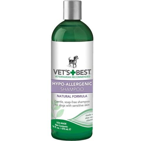 """Vet's Best Hypo-Allergenic Dog Shampoo 16oz Green 2.45"""" x 2.45"""" x 8"""""""