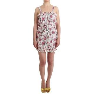 Ermanno Scervino Ermanno Scervino Beachwear Pink Floral Beach Mini Dress Short