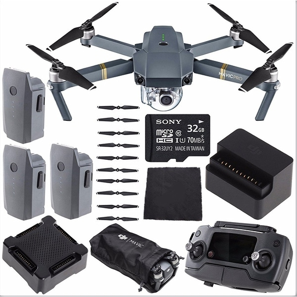 shop dji mavic pro fly more combo kit free shipping. Black Bedroom Furniture Sets. Home Design Ideas