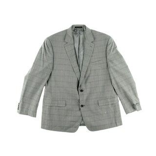 Shaquille O'Neal Mens Big & Tall Wool Plaid Two-Button Blazer