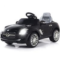 Costway BLACK MERCEDES BENZ SLS R/C MP3 KIDS RIDE ON CAR ELECTRIC BATTERY TOY