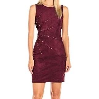 Jessica Simpson NEW Purple Women Size 6 Faux Suede Studded Sheath Dress