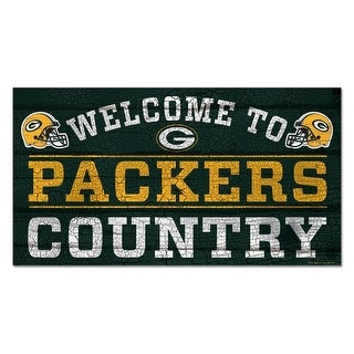 Green Bay Packers 13x24 Welcome to Packers Country Wooden Sign - multi