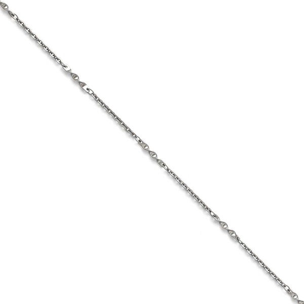 Chisel Stainless Steel Polished Fancy Link Chain - 18 in