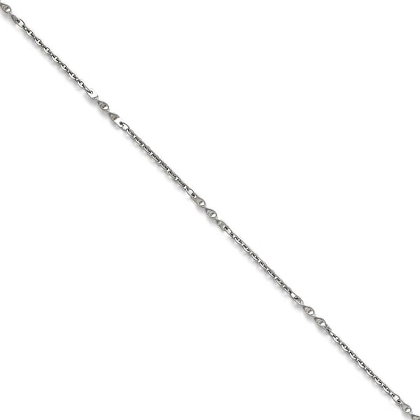 Chisel Stainless Steel Polished Fancy Link Chain - 22 in