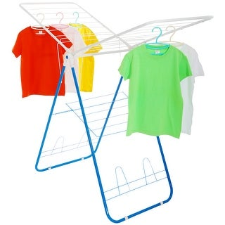 Collapsible Folding Clothes Drying Rack/Stand , stainless steel Laundry Station/Garment Rack