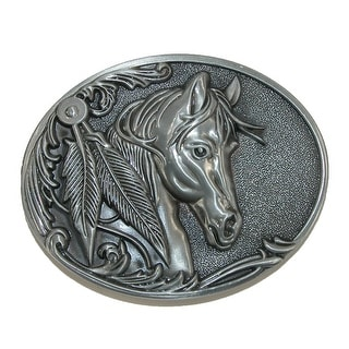 CTM® Women's Horse Belt Buckle - One Size