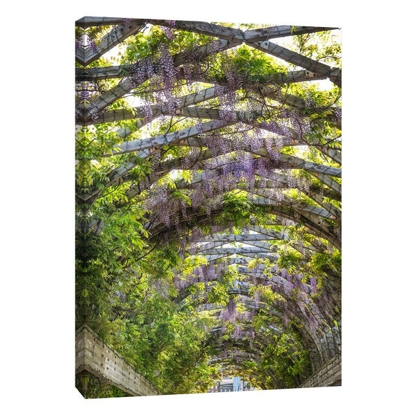 "PTM Images 9-106011 PTM Canvas Collection 10"" x 8"" - ""Wisteria Trellis Arch"" Giclee Flowers Art Print on Canvas"