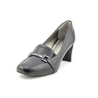 Circa Joan & David Vivana Women Square Toe Leather Black Heels