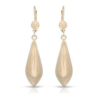 Mcs Jewelry Inc 10 KARAT YELLOW GOLD DANGLING MATTE EARRINGS (49MM)