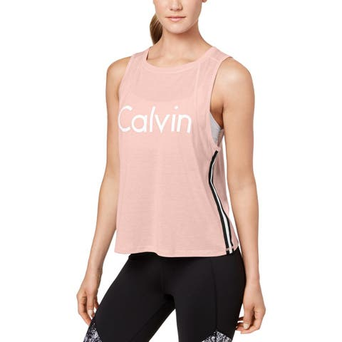 Calvin Klein Performance Womens Tank Top Fitness Yoga