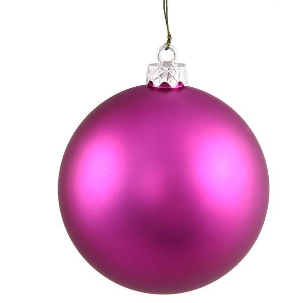 """3"""" Magenta Matte Ball UV Shatterproof"""