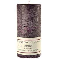 1 Pc Textured 4x9 Merlot Pillar Candles 4 in. diameterx9.25 in. tall