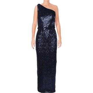 Ralph Lauren Womens Milolina Formal Dress Sequined One-Shoulder