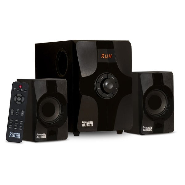 Acoustic Audio AA2131 Bluetooth Home 2.1 Speaker System for Multimedia Computer